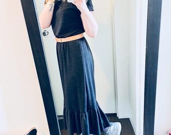 Tea ~ super light mohair dress with short sleeves