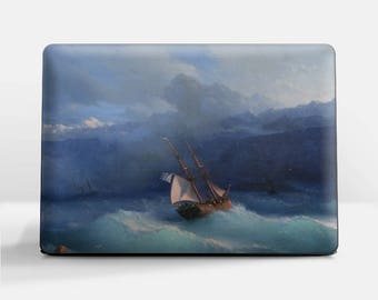 "Laptop skin (Custom size). Ivan Aivazovsky, ""Along the Coast"". Laptop cover, HP, Lenovo, Dell, Sony, Asus, Samsung etc."