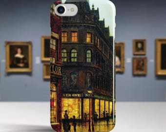 "John Grimshaw, ""Boar Lane, Leeds"". iPhone 8 Case Art iPhone 7 Case iPhone 6 Plus Case and more. iPhone 8 TOUGH cases. Art iphone cases."