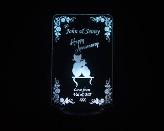 Personalised Anniversary LED card