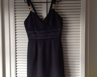 Vintage Black party dress with detailed straps- never worn