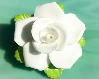 Roses Flower Pin | White Flower Brooch | Rose Jewelry | Flower Jewelry | Floral Jewelry | Flower Gifts for Her | Vintage Jewelry