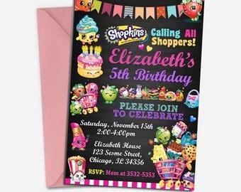 Shopkins Invitation/ Shopkins Birthday/ Shopkins Birthday Invitation/ Shopkins Birthday Party/ Shopkins Invite/ Shopkins Printable/ Shopkins