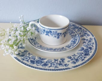 Vintage Dinner place setting for two, farmhouse decor