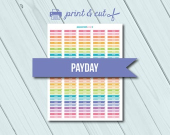 Payday Planner Stickers - Side Flags - Printable Stickers - Flag Header - Erin Condren Life Planner - Happy Planner - Personal Planner