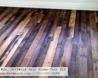 Ready to Install Reclaimed Wood Floor, Artisan Mix Hardwood Floor,  Skip Planed, Barn Wood Floor, Reclaimed Floor, Hardwood Flooring