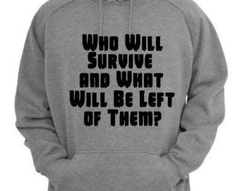 Who Will Survive Texas Chainsaw Massacre Unisex Hoodie Pullover Hooded Sweatshirt Many Sizes Colors Custom Horror Halloween Merch Massacre