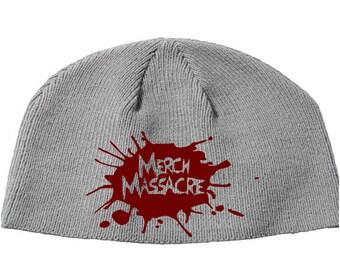 Merch Massacre Awesome Kick Ass Beanie Knitted Hat Cap Winter Clothes Horror Merch Massacre Christmas Black Friday