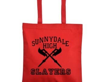 Buffy the Vampire Slayer Hellmouth  Horror Canvas Tote Bag Market Pouch Grocery Reusable Halloween Merch Massacre Black Friday Christmas