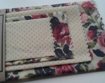 Beeswax Cottage Wraps 'Vintage Roses' - the eco-friendly alternative to plastic cling wrap