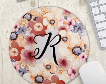 Personalized Mousepad - Custom Monogram Mouse Pad - Office Decor