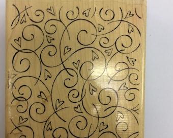 Stampin' Up! Soft Swirls wood mounted background stamp