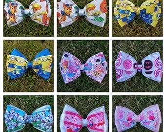 Handmade layered character bows