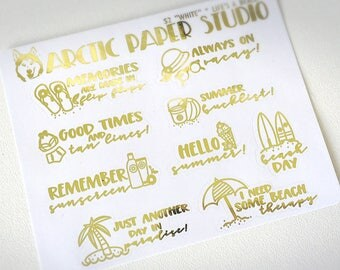 Life's a Beach - FOILED Sampler Event Icons Planner Stickers
