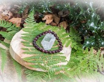 Bracelet 8 mm Garnet beads