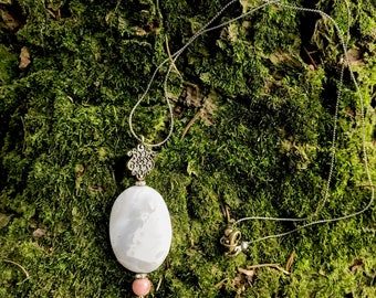 Princess Pendant with Grey Moonstone necklace charm healing