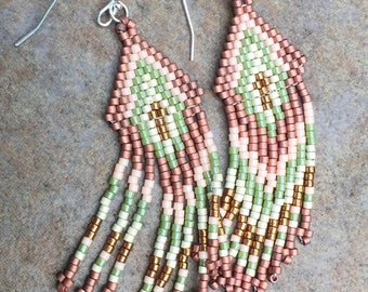 Fringed Seed Bead Earrings