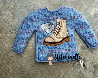 Military Boots Elf Sweater
