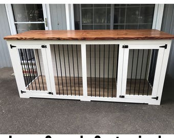 Console Kennel with Thick top