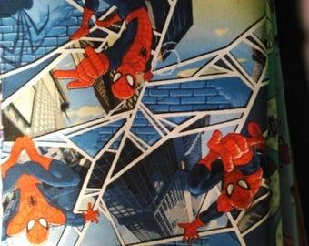 Spiderman Panes Cotton Fabric - 1  yard