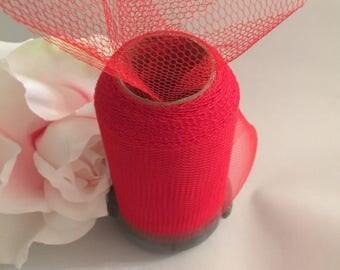 Lot de 2 Rouleaux De Tulle Mariage 8 cm Rouge X 10 Mètres Pas Cher