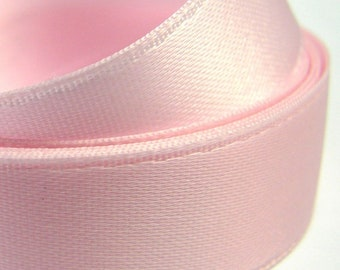 Ruban Satin Double Face Rose, 25 mm - Belle Qualité - Prix Dégressif