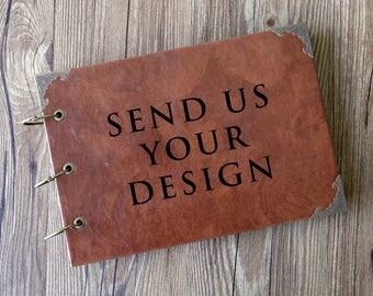 A4 Personalized Leather  Wedding Photo Album /Custom Wedding Guest Book/wedding Scrapbook