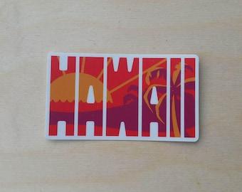 Hawaii Sunset Travel Sticker