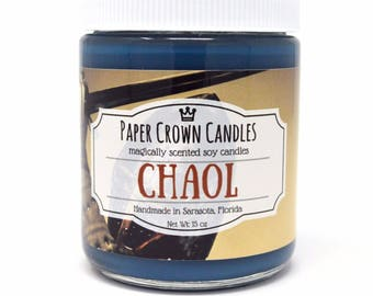 Chaol Westfall Candle - Paper Crown Candles - Throne of Glass - Sarah J. Maas