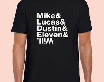 Stranger Things T-Shirt. Funny Cool. Black 100% Cotton Tshirt