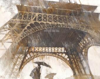 Paris art Brown Paris Paris paint Paris painting Paris landscape Paris tower tower art Tower brown City tower Urban tower Urban brown