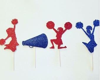 Cheerleader,Cheerleader Cupcake Toppers