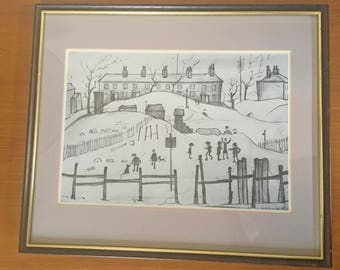 """L.S. Lowry """"Houses in Broughton"""" Print"""