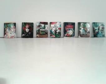 Alice in Wonderland Miniature DVD Set  1:12 Scale