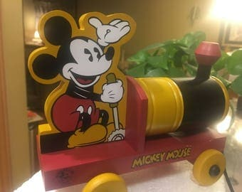 Mickey Mouse Wooden Pull toy