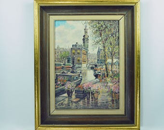 Anton Rutgers (1898-1954) Dutch Oil Painting On Linen
