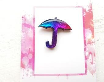 Umbrella pin Umbrella  jewellery umbrella brooch rainy day jewellery Umbrella jewelry rainbow umbrella weather jewellery rainy day jewellery