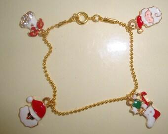 Gold Bracelet child Christmas