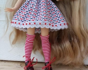 Blythe Dress, Blythe Clothes, Blythe Clothing, Blythe Outfit, Blythe Summer Outfit, Blythe Fashion, Blythe Doll, Doll Clothes, Icy Clothes