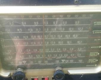 Vintage Zenith Transoceanic Shortwave Radio/Antique Electronics/Nautical Equipment/Project/Unique Collectors Item/Origional/Used/Interesting