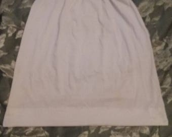 Beautiful Vintage White Cotton/Victorian Lace Trimmed Half Slip/Knee Length Undergarment/Edwardian Style/Reenactment Wear/Underwear