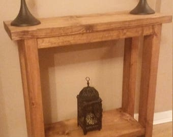 Solid Wood Chunky Console Table