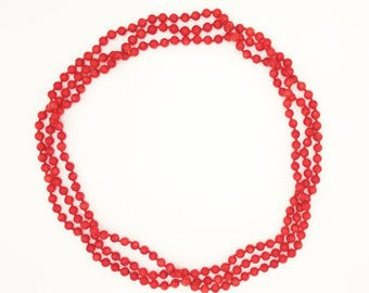 "80"" Red Sea Bamboo Coral Necklace"
