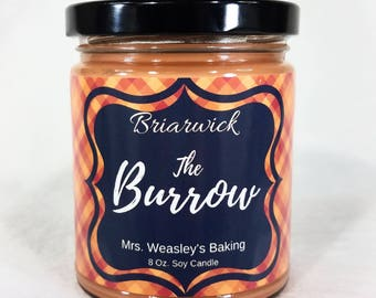 The Burrow- 8 oz. Candle- Wizard Inspired- Soy Vegan Candle