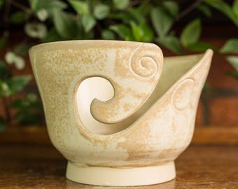 Hand Thrown Stoneware Yarn Bowl