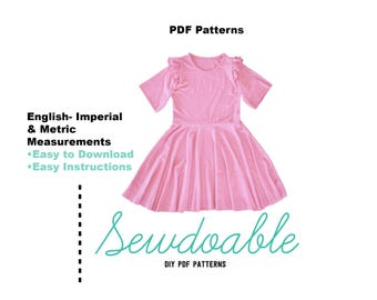 Skater Dress PDF Pattern