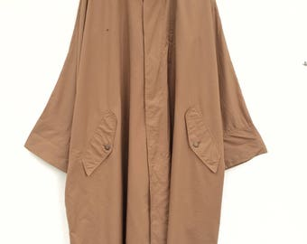Vintage Exclusive Issey Miyake Brown Oversized Cocoon Long Coat /Y's Yohji Yamamoto/ Junya Watanabe/ Comme des Garcon/ Japanese brand