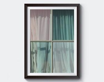 Windows Print, Printable Art, Architecture Print,  Building Photo, Wall Decor, Architectural Print, Scandinavian art, Retro art
