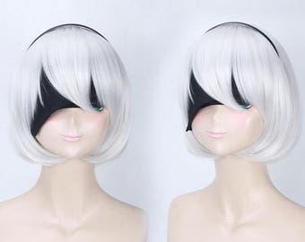 NieR:Automata 2B Cosplay Full Hair Wigs