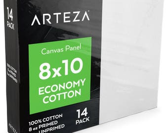 8x10 Canvas Panel, Economy-Cotton (Pack of 14)